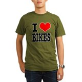I Heart (Love) Bikes T-Shirt