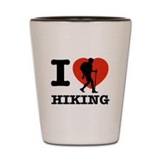 I love Hiking Shot Glass
