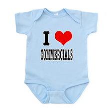 I Heart (Love) Commercials Infant Bodysuit