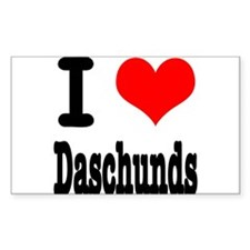 I Heart (Love) Daschunds Decal