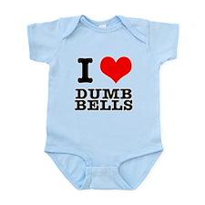I Heart (Love) Dumb Bells Infant Bodysuit