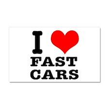 I Heart (Love) Fast Cars Car Magnet 20 x 12