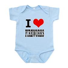 I Heart (Love) Fireworks Infant Bodysuit
