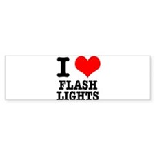 I Heart (Love) Flashlights Bumper Sticker