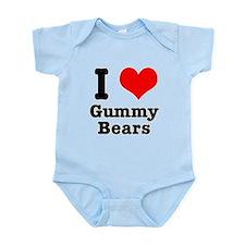 I Heart (Love) Gummy Bears Infant Bodysuit
