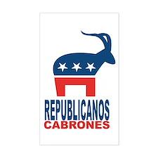 Republicanos Cabrones Decal