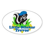 Little Stinker Trevor Sticker (Oval)