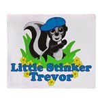 Little Stinker Trevor Throw Blanket