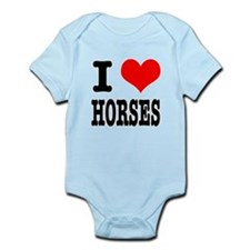 I Heart (Love) Horses Infant Bodysuit