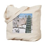 Jewtalia: A Little Pisa Jerusalem Tote Bag