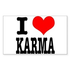 I Heart (Love) Karma Decal