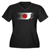 Athletics Runner - Japan Women's Plus Size V-Neck