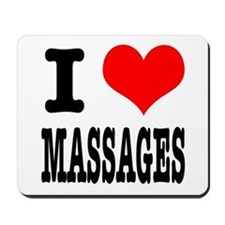 I Heart (Love) Massages Mousepad