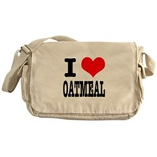I Heart (Love) Oatmeal Messenger Bag