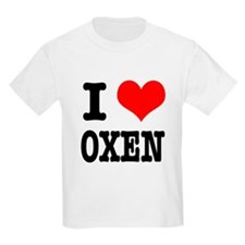 I Heart (Love) Oxen T-Shirt