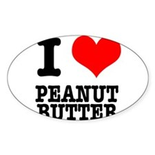 I Heart (Love) Peanut Butter Decal