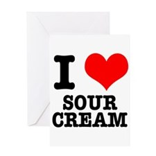 I Heart (Love) Sour Cream Greeting Card
