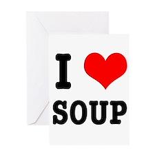 I Heart (Love) Soup Greeting Card