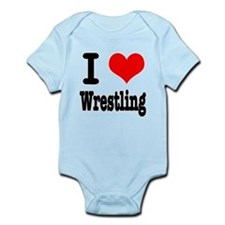 I Heart (Love) Wrestling Onesie