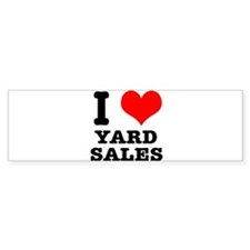 I Heart (Love) Yard Sales Bumper Sticker