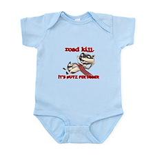 Racoon Road Kill for Dinner Infant Bodysuit