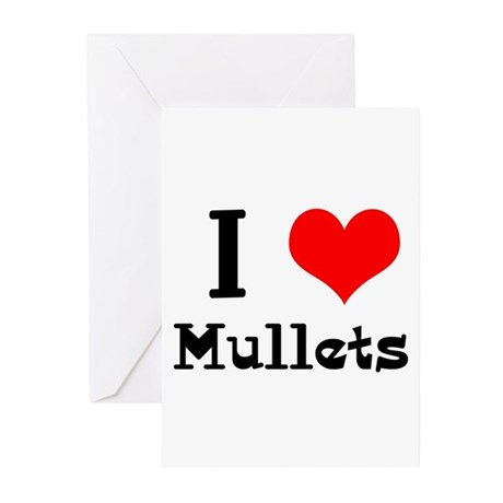I Heart (Love) Mullets Greeting Cards (Pk of 20)