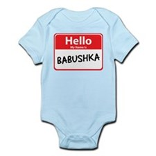Hello My Name is Babushska Infant Bodysuit