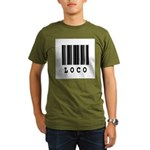 Loco Barcode Design Organic Men's T-Shirt (dark)