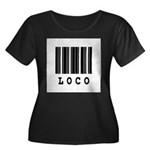 Loco Barcode Design Women's Plus Size Scoop Neck D