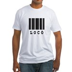 Loco Barcode Design Fitted T-Shirt
