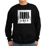 Loco Barcode Design Sweatshirt (dark)