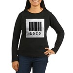 Loco Barcode Design Women's Long Sleeve Dark T-Shi