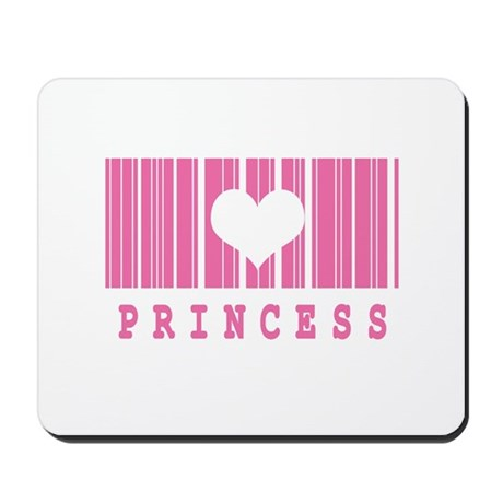 Princess Heart Barcode Design Mousepad