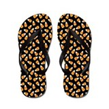 Halloween Candy Corn Flip Flops