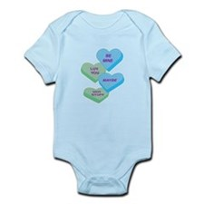 Cute Valentine Candy Hearts D Infant Bodysuit