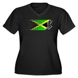 Athletics Runner - Jamaica Women's Plus Size V-Nec