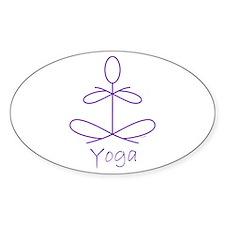 Yoga in Purple Decal