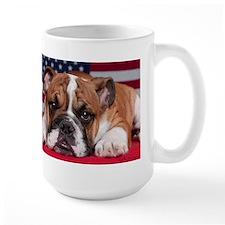 Patriotic Bulldog Mug
