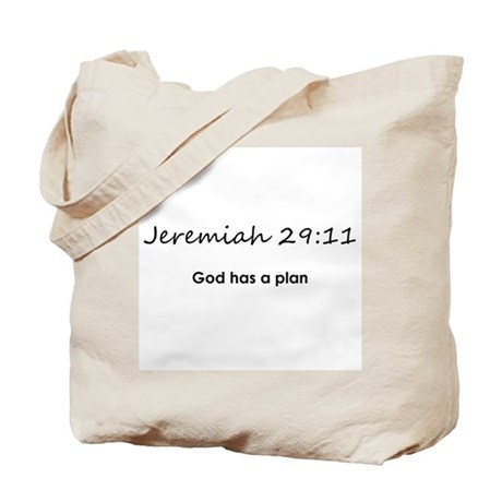 Jeremiah 29:11 (Design 1) Tote Bag
