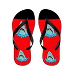 Shark Attack Flip Flops