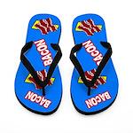 Comic Bacon Flip Flops