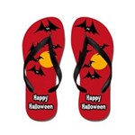 Bat Halloween Flip Flops