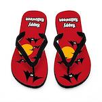 Bat Halloween Flip Flops