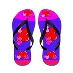 Cute Heart Flip Flops