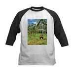 Horse in a Tropical Pasture Kids Baseball Jersey
