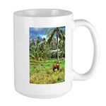 Horse in a Tropical Pasture Large Mug