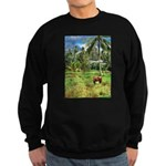 Horse in a Tropical Pasture Sweatshirt (dark)