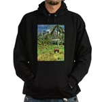 Horse in a Tropical Pasture Hoodie (dark)