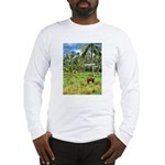 Horse in a Tropical Pasture Long Sleeve T-Shirt