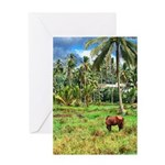 Horse in a Tropical Pasture Greeting Card